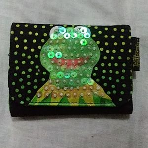 SEQUINED KERMIT THE FROG TRI-FOLD WALLET